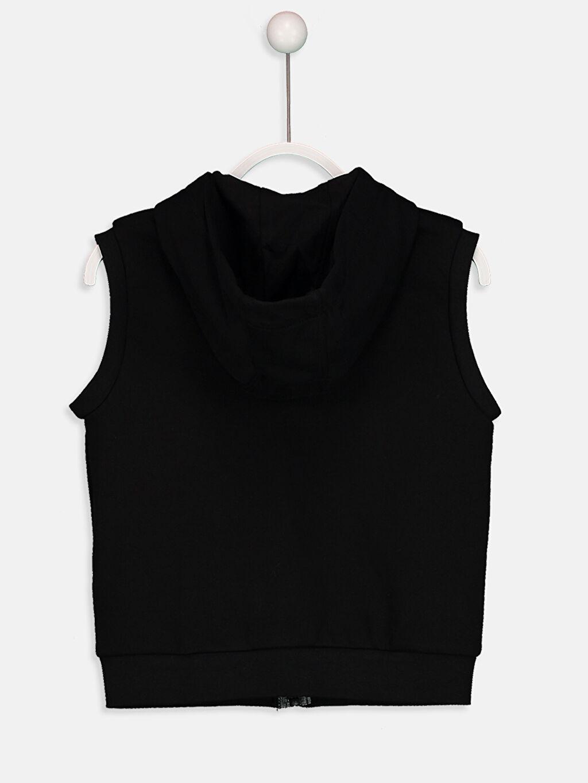 %73 Pamuk %27 Polyester Kalın Sweatshirt Kumaşı Yelek Orta Kalınlık Kapüşon Yaka Düz Kapüşonlu Fermuarlı Yelek