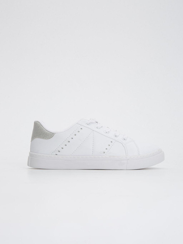 Beyaz Kız Çocuk Bağcıklı Ayakkabı 8W0251Z4 LC Waikiki