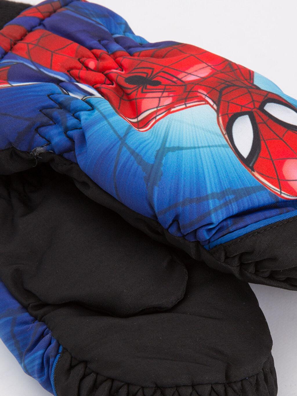 %100 Polyester %100 Polyester Eldiven Erkek Çocuk Spiderman Kar Eldiveni