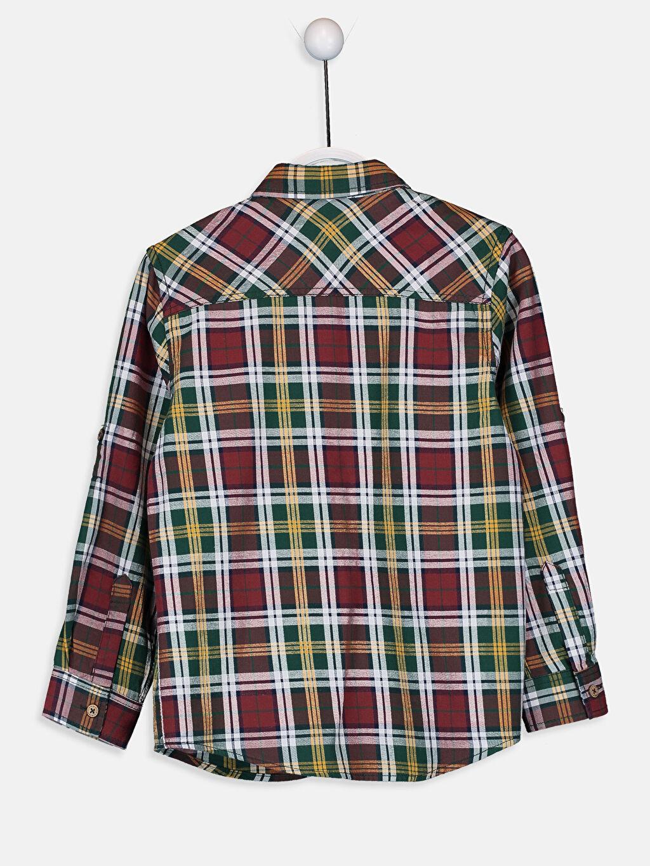 Erkek Çocuk Uzun Kollu Twill Ekose Gömlek