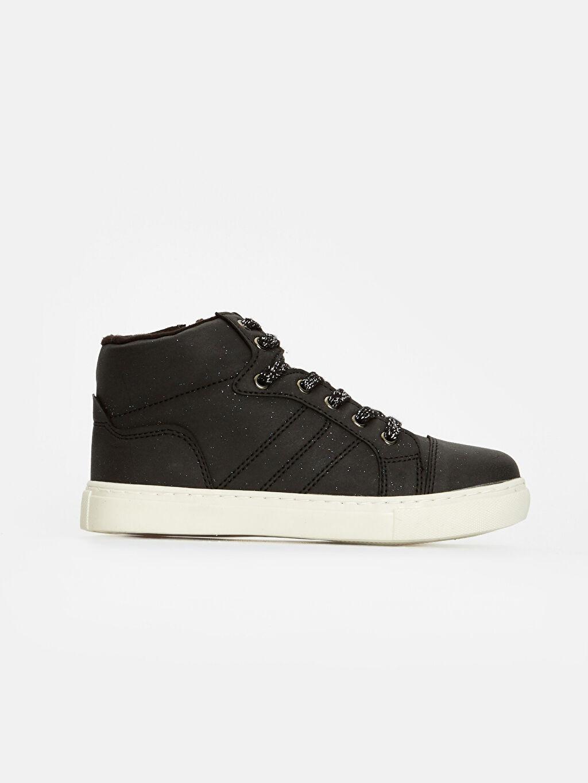 Siyah Kız Çocuk Bağcıklı Ayakkabı 8W4432Z4 LC Waikiki