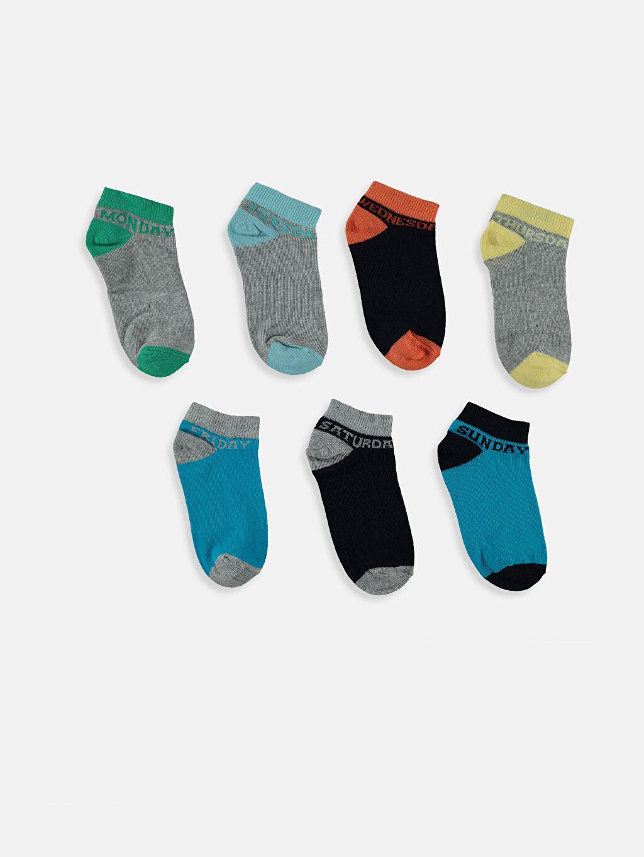 %64 Pamuk %16 Polyester %19 Poliamid %1 Elastan Patik Çorap Dikişli Patik Çorap 7'li