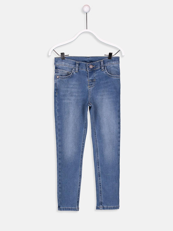 %98 Pamuk %2 Elastan Astarsız Dar Jean Aksesuarsız Erkek Çocuk Skinny Jean Pantolon