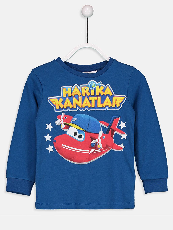 Mavi Erkek Çocuk Harika Kanatlar Tişört 8W8764Z4 LC Waikiki
