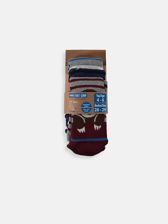 Çok Renkli Erkek Çocuk Havlu Soket Çorap 3'lü 8WG188Z4 LC Waikiki
