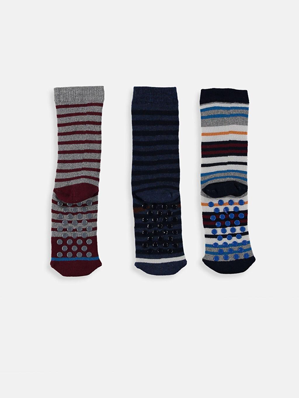 Erkek Çocuk Erkek Çocuk Havlu Soket Çorap 3'lü