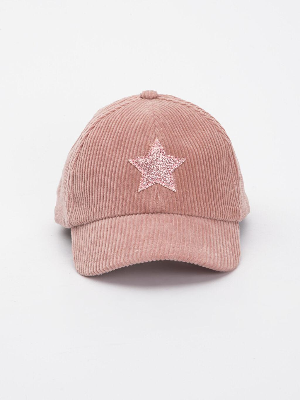 %100 Pamuk Düz Şapka Kep Kız Çocuk Kadife Şapka