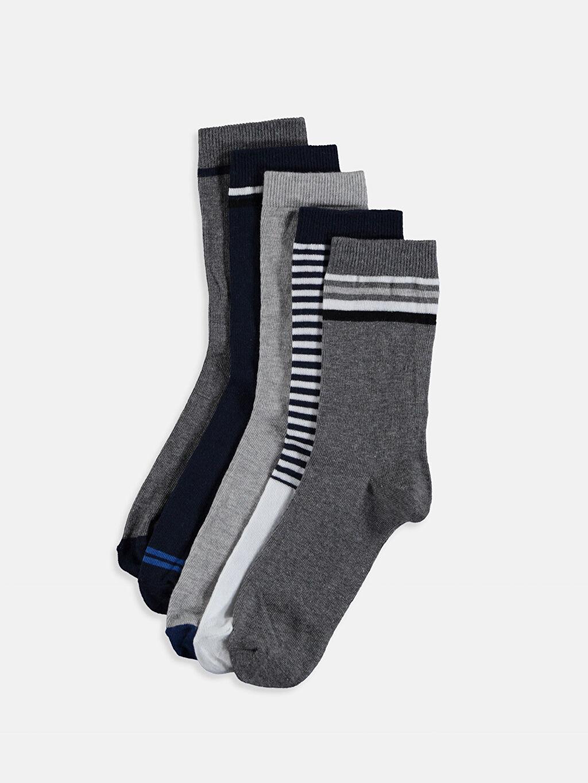 Çok Renkli Erkek Çocuk Soket Çorap 5'li 8WN623Z4 LC Waikiki