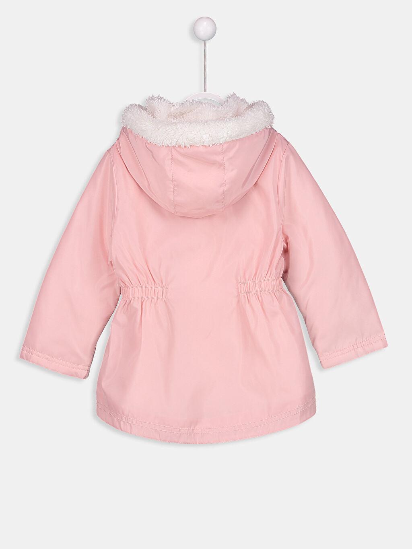 %100 Polyester %100 Polyester Uzun Polar Astar Kapüşonlu Düz Mont İnce Kız Bebek Pelüş Astarlı İnce Uzun Mont