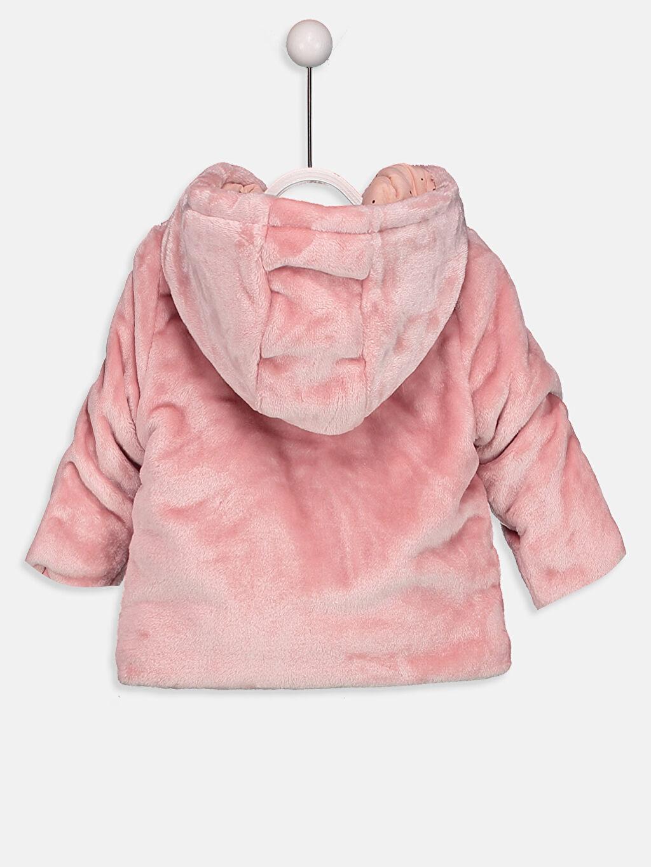 %100 Polyester %100 Pamuk Mont Kalın Kız Bebek Kapüşonlu Kalın Kürk Kaban