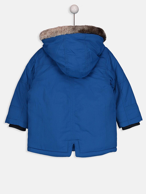 %100 Poliamid %100 Polyester Mont Kalın Şarpa Astar Erkek Bebek Kapüşonlu Kaban