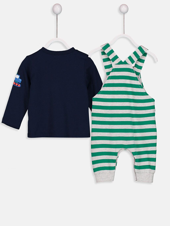 Erkek Bebek Erkek Bebek Baskılı Tişört ve Salopet