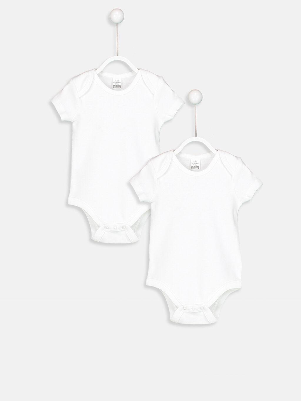 Beyaz Kız Bebek Çıtçıtlı Body 2'li 8W2187Z1 LC Waikiki