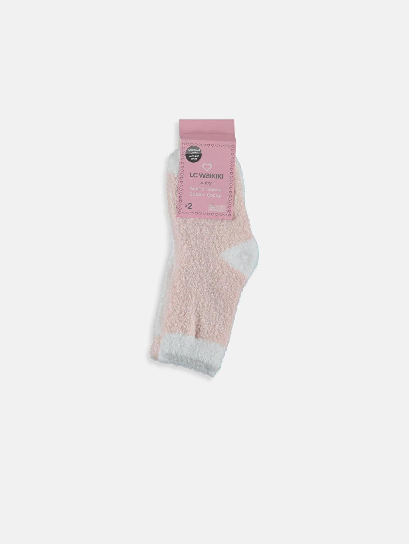Gri Kız Bebek Soket Çorap 2'li 8W9234Z1 LC Waikiki