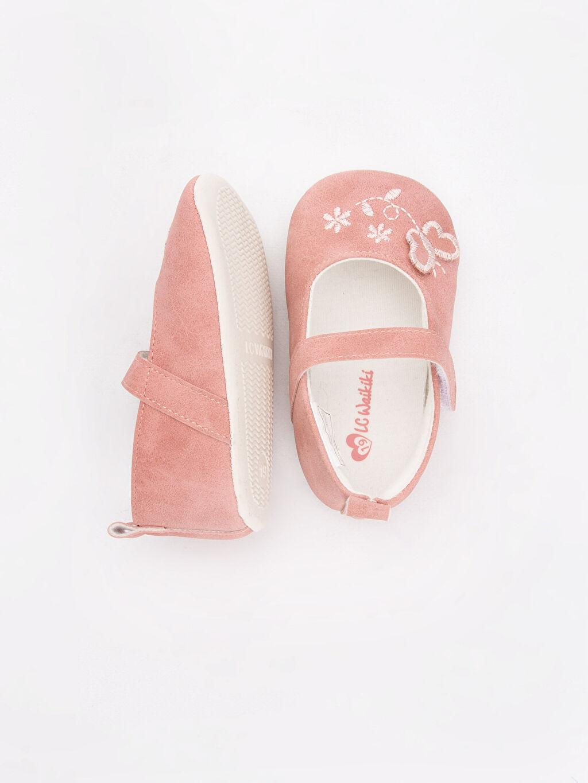 %0 Diğer malzeme (poliüretan) Yürümeyen Kısa(0-2cm) Kısa Tekstil Malzeme Kız Bebek Nakışlı Ayakkabı