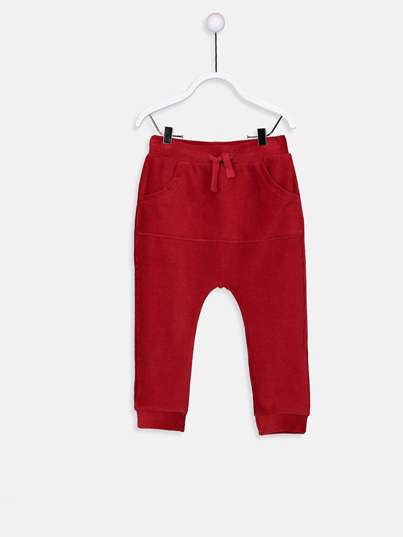 Kırmızı Erkek Bebek Kadife Pantolon 8WN586Z1 LC Waikiki