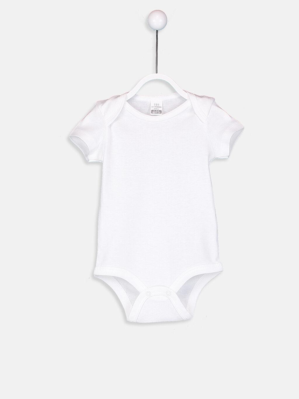 %100 Pamuk Standart Ribana Çıtçıtlı Body Kız Bebek Çıt Çıtlı Body 2'li