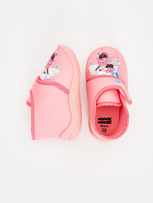 %0 Tekstil malzemeleri (%100 poliester) Kısa(0-2cm) Cırt Cırt Kısa Panduf Tekstil Malzeme Minnie Mouse Kız Bebek Minnie Mouse Desenli Ev Ayakkabısı