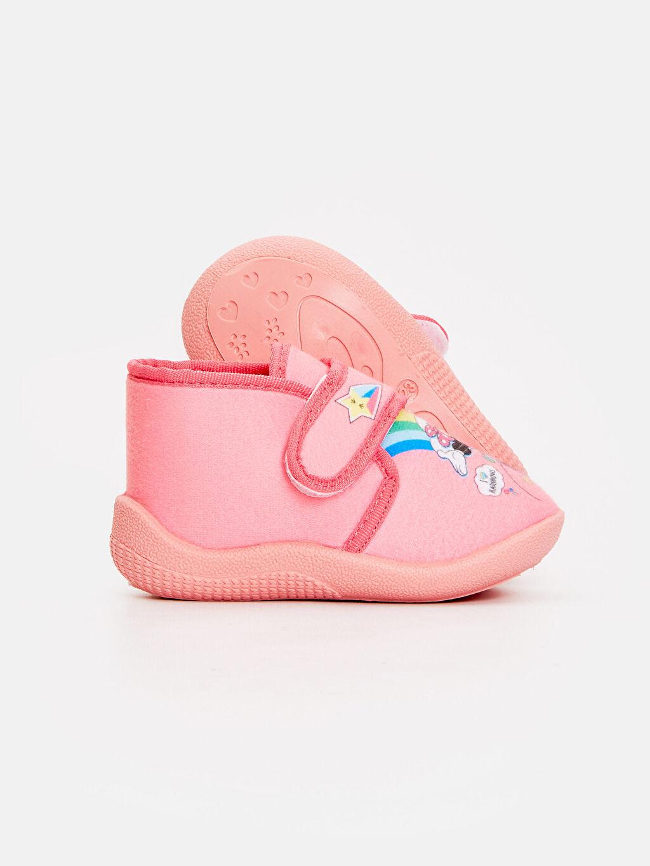 Kız Bebek Kız Bebek Minnie Mouse Desenli Ev Ayakkabısı
