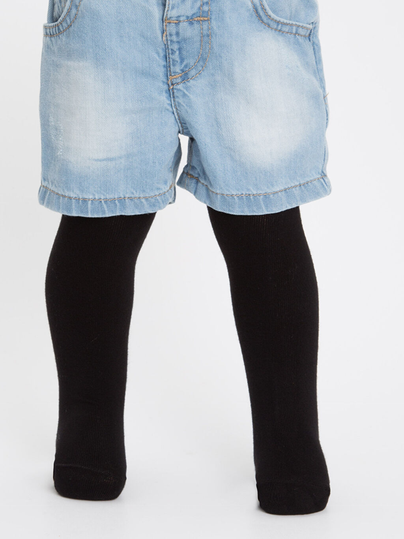 %70 Pamuk %27 Poliamid %3 Elastan Orta Kalınlık Külotlu Çorap Düz Dikişli Erkek Bebek Külotlu Çorap
