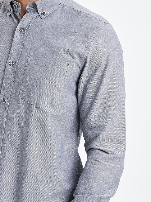 LC Waikiki Antrasit Regular Fit Uzun Kollu Oxford Gömlek