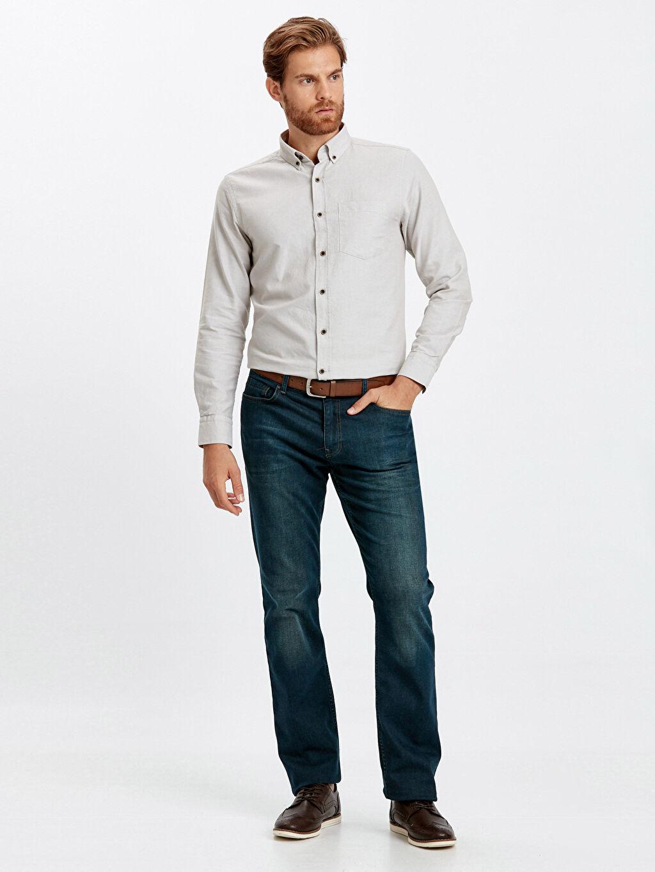 Erkek Regular Fit Uzun Kollu Oxford Gömlek