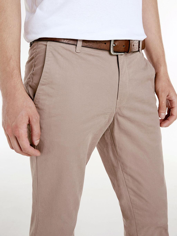 %97 Pamuk %3 Elastan Ekstra Dar Kalıp Pamuklu Chino Pantolon