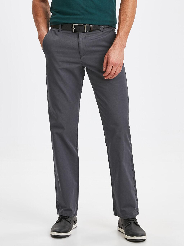 %100 Pamuk %100 Pamuk Gabardin Chino Pantolon Standart Normal Kalıp Gabardin Chino Pantolon