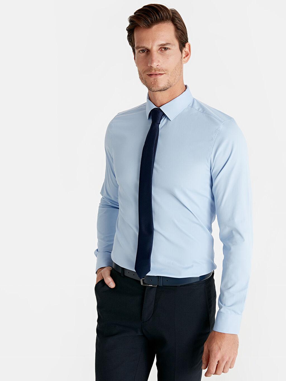 Mavi Eksra Slim Fit Uzun Kollu Armürlü Gömlek 9S1411Z8 LC Waikiki