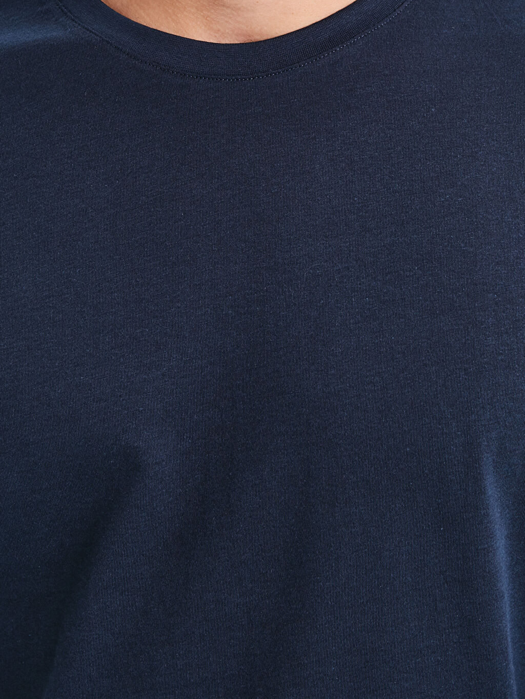 %100 Pamuk Bisiklet Yaka Basic Tişört