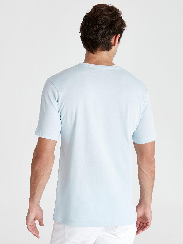%100 Pamuk %100 Pamuk Penye Standart Tişört Bisiklet Yaka Kısa Kol Düz Bisiklet Yaka Basic Tişört