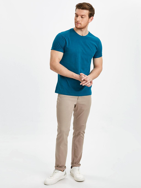 Erkek Bisiklet Yaka Basic Tişört