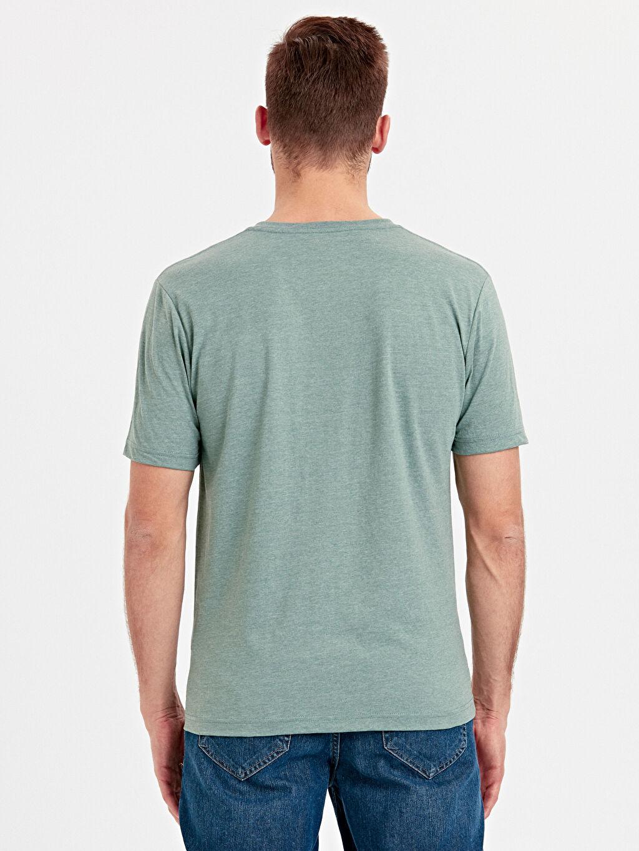 %34 Pamuk %66 Polyester %100 Pamuk Penye Standart Tişört V Yaka Kısa Kol Düz V Yaka Basic Tişört