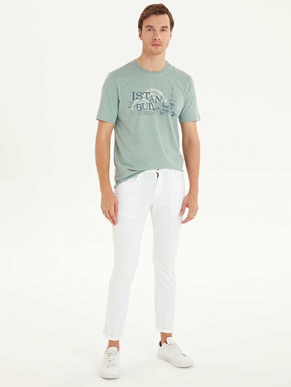 Beyaz Dar Kalıp Gabardin Chino Pantolon 9S2469Z8 LC Waikiki