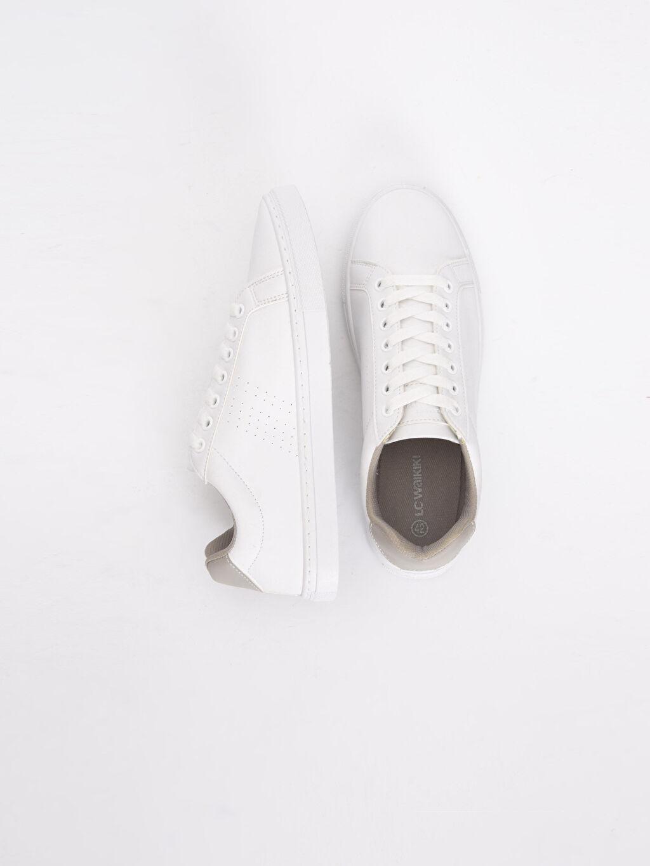 Erkek Erkek Beyaz Bağcıklı Spor Ayakkabı