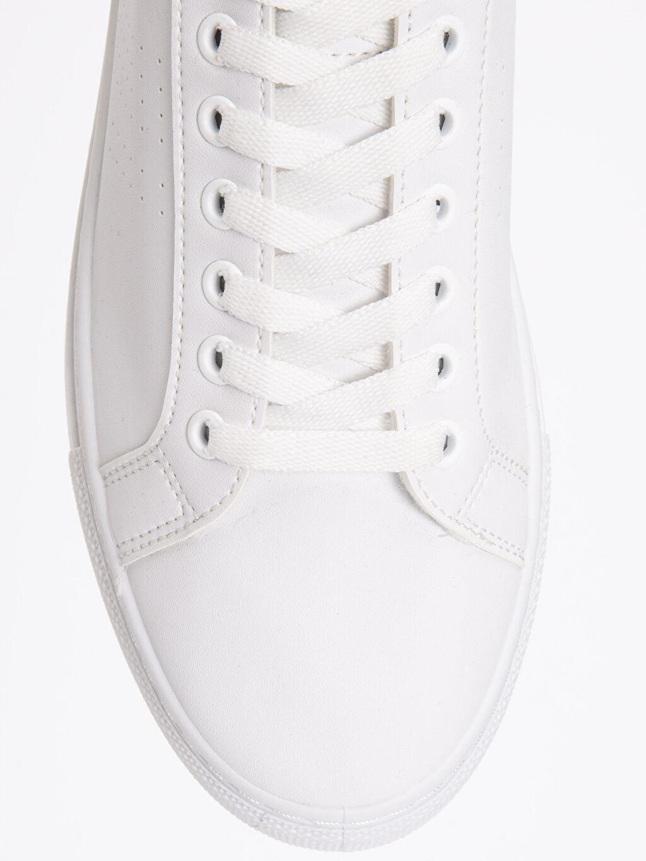 LC Waikiki Beyaz Erkek Beyaz Bağcıklı Spor Ayakkabı