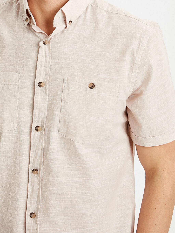 %100 Pamuk Regular Fit Kısa Kollu Poplin Gömlek