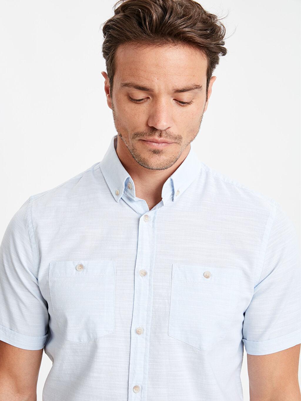 Erkek Regular Fit Kısa Kollu Poplin Gömlek
