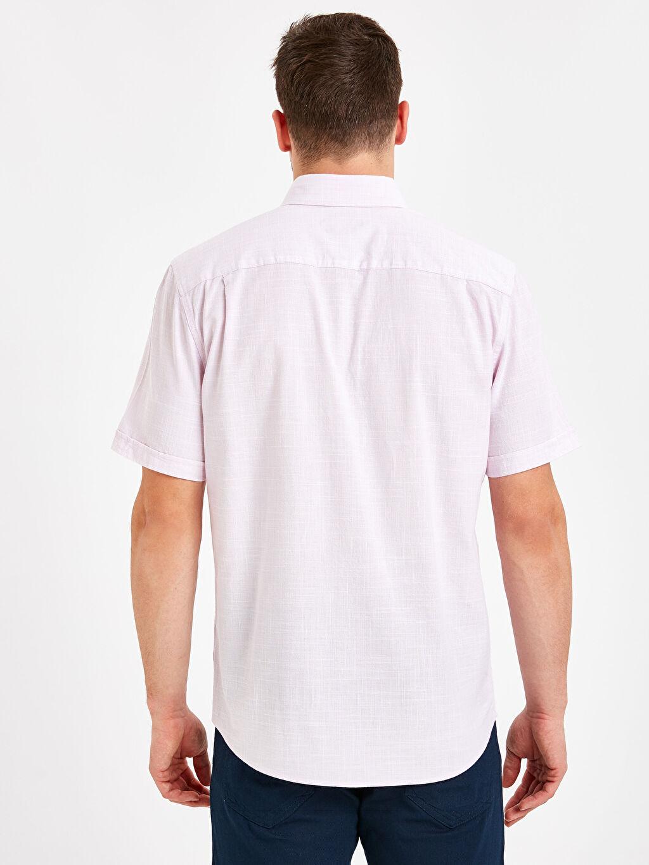 %100 Pamuk %100 Pamuk Gömlek Standart Patlı Kısa Kol Düz Düğmeli Gömlek Yaka Poplin Regular Fit Kısa Kollu Poplin Gömlek