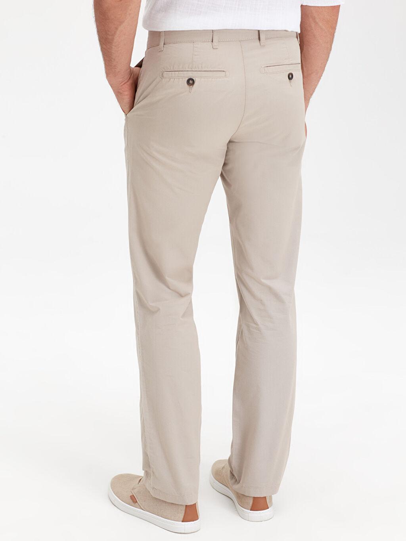%100 Pamuk Normal Kalıp Chino Pantolon