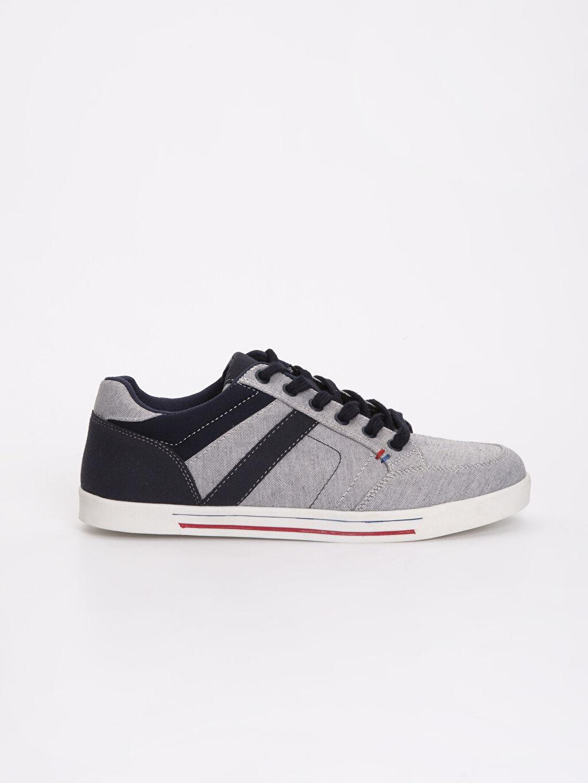 Tekstil malzemeleri Diğer malzeme (poliüretan) Sneaker Bağcık Erkek Bağcıklı Spor Ayakkabı