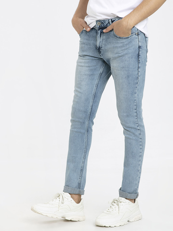 %99 Pamuk %1 Elastan Dar Jean 760 Skinny Fit Jean Pantolon