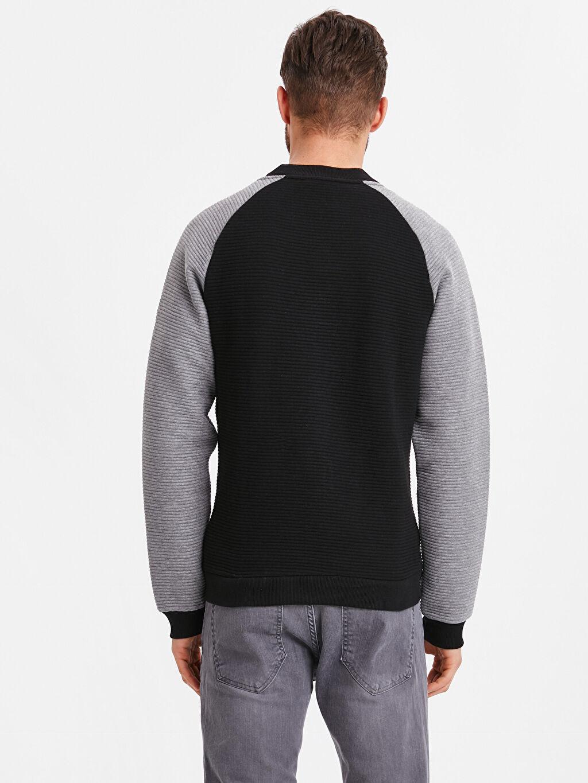 %100 Pamuk %100 Pamuk Spor Hırka Bomber Yaka Kolej Yaka Fermuarlı Sweatshirt