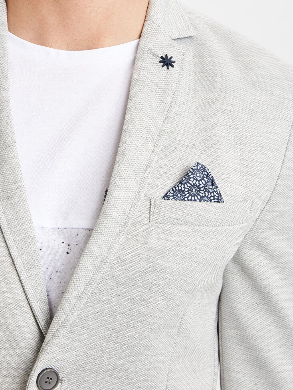 %9 Pamuk %91 Polyester Dar Kalıp Blazer Ceket