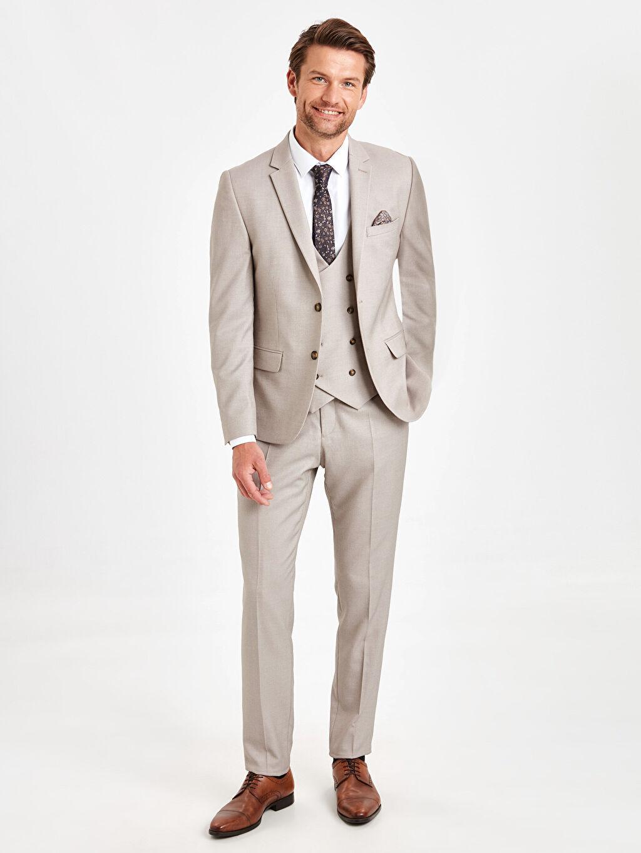 %73 Polyester %2 Elastan %25 Viskoz Ekstra Dar Kalıp Blazer Ceket