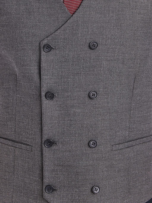 %74 Polyester %2 Elastan %24 Viskon Klasik İnce Yelek