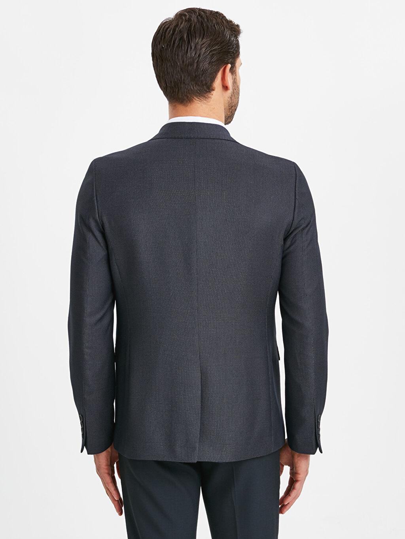 %66 Polyester %34 Viskoz %100 Polyester Dar Düz Astarlı Blazer Ceket Dar Kalıp Takım Elbise Ceketi