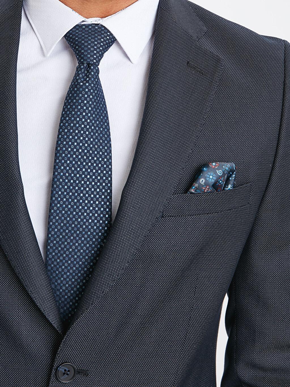 %66 Polyester %34 Viskoz Dar Kalıp Takım Elbise Ceketi