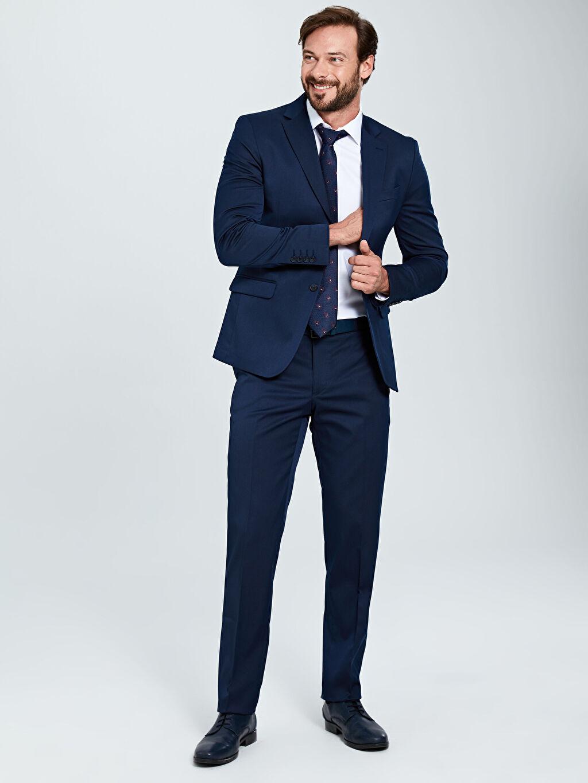 Erkek Standart Kalıp Akıllı Kumaş Blazer Ceket
