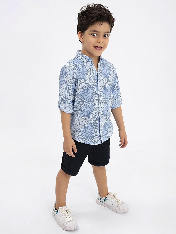 Mavi Aile Koleksiyonu Erkek Çocuk Armürlü Chino Şort 9SM415Z4 LC Waikiki